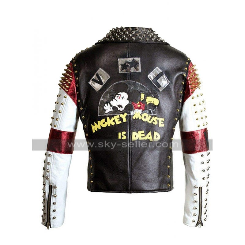 Mickey_Mouse_Dead_Studded_Motorcycle_Leather_Jacket_Skyseller