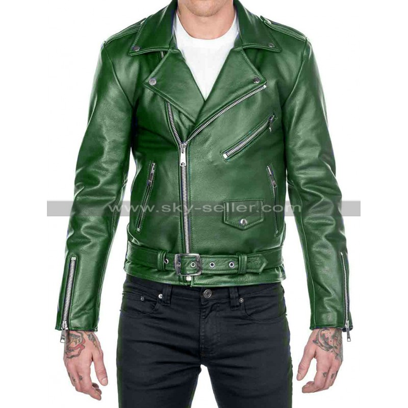 Cafe_Racer_Brando_Green_Biker_Leather_Jacket