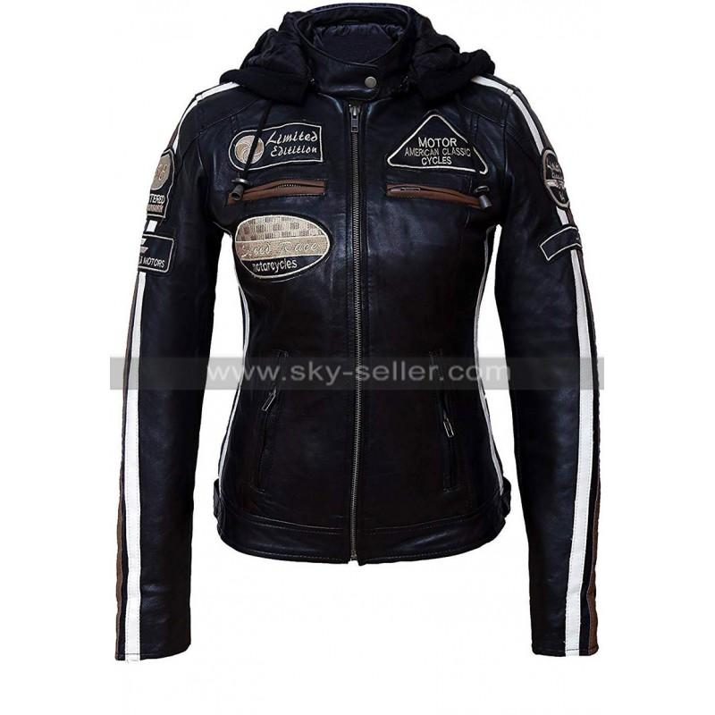 Womens_Cafe_Racer_Biker_Badges_Black_Leather_Jacket_Skyseller