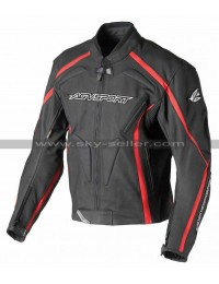 AGV Sport Dragon Red Stripe Black Leather Jacket