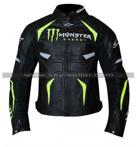 Alpinestars Monster Energy Scream Perforated Leather Jacket