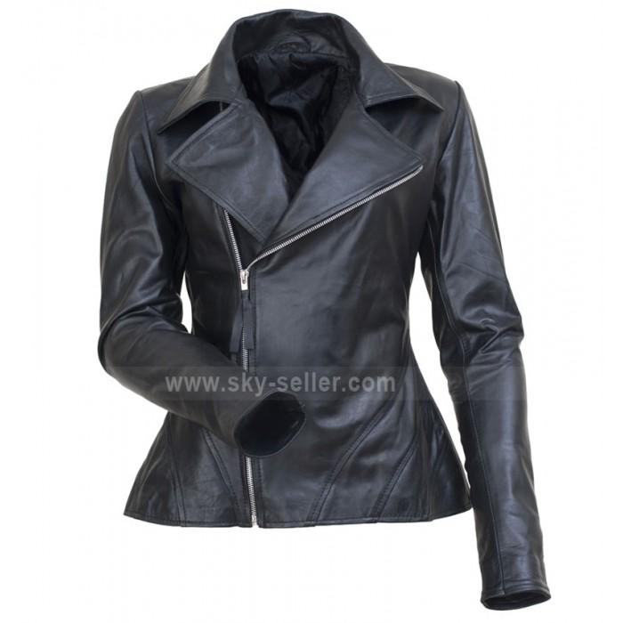 Fashion Show Anne Hathaway Black Moto Jacket