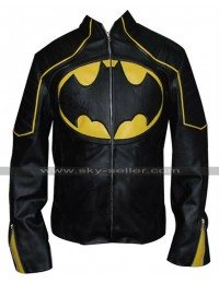 Batman Black and Yellow Motorcycle Leather Jacket