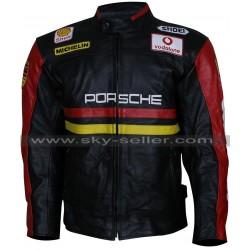 Men's Porsche 930 Turbo Motorcycle Leather Jacket
