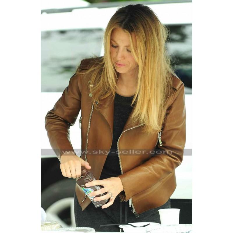 Blake lively leather jacket