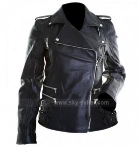 Women Brando Black Motorcycle Leather Jacket