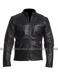 Cafe Racer Law Breaking Vintage Biker Black Motorcycle Leather Jacket