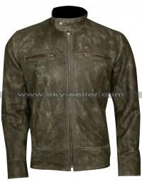 Cafe Racer Men's Distressed Wax Vintage Biker Jacket