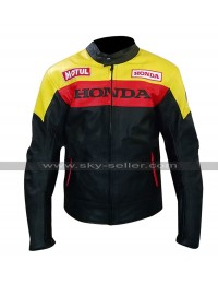 Mens Aubrey Drake Graham Honda Motorcycle Style Biker Leather Jacket