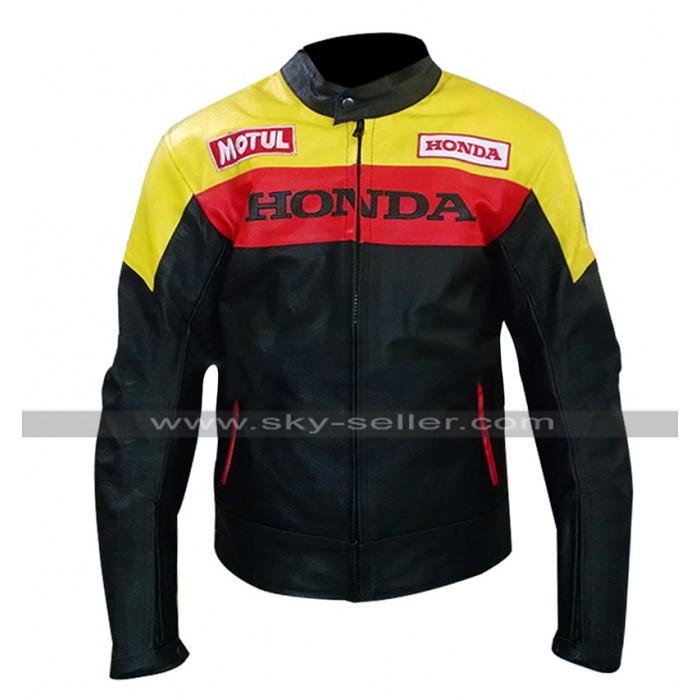 Mens Aubrey Drake Graham Honda Motorcycle Style Biker Leather Jacket