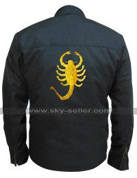 Driver Ryan Gosling Black Rider Drive Scorpion Biker Cordura Jacket