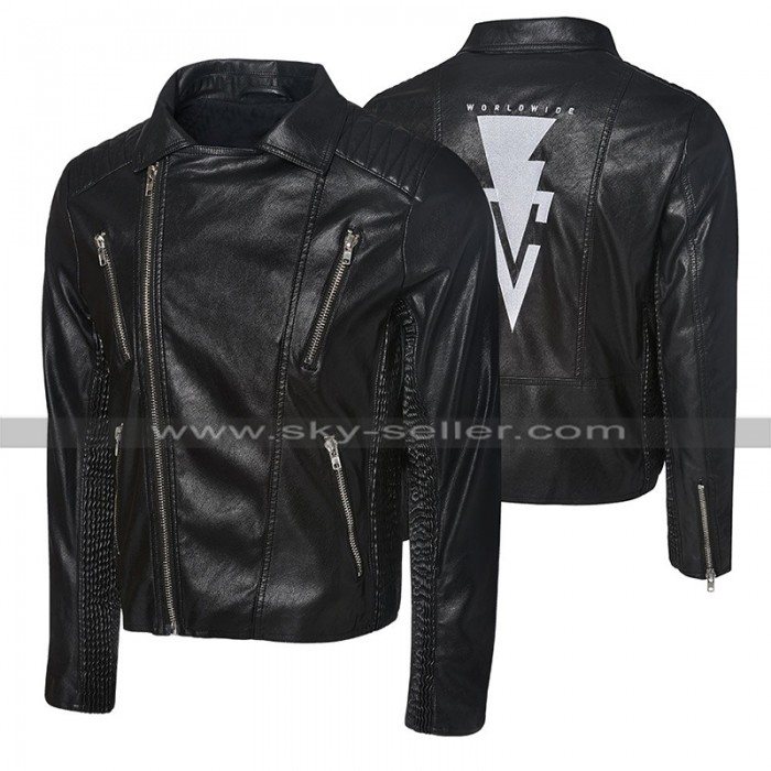 WWE Wrestler Finn Balor Black Biker Leather Jacket