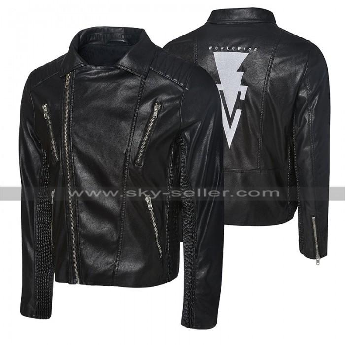 WWE Wrestler Finn Balor Black Biker Leather Jacket