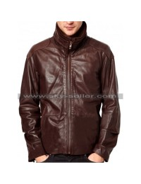 Funnel Neck Double Layered Slim Fit Motorcycle Jacket