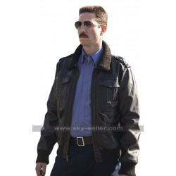 Orange Is the New Black Pablo Schreiber Fur Collar Brown Leather Jacket
