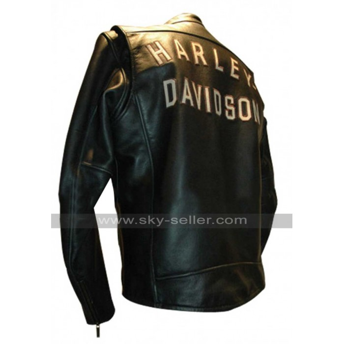 Harley Birler Davidson Black Biker Leather Jacket