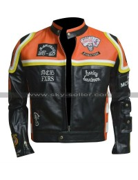 Vintage Cafe Racer Retro Biker Red and Black Motorcycle Leather Jacket with Patches