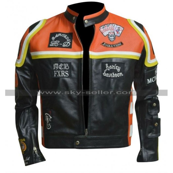 Marlboro Man Harley Davidson Motorcycle Leather Jacket