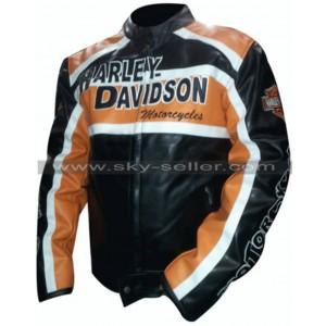 Harley Davidson Biker Vintage Leather Jacket