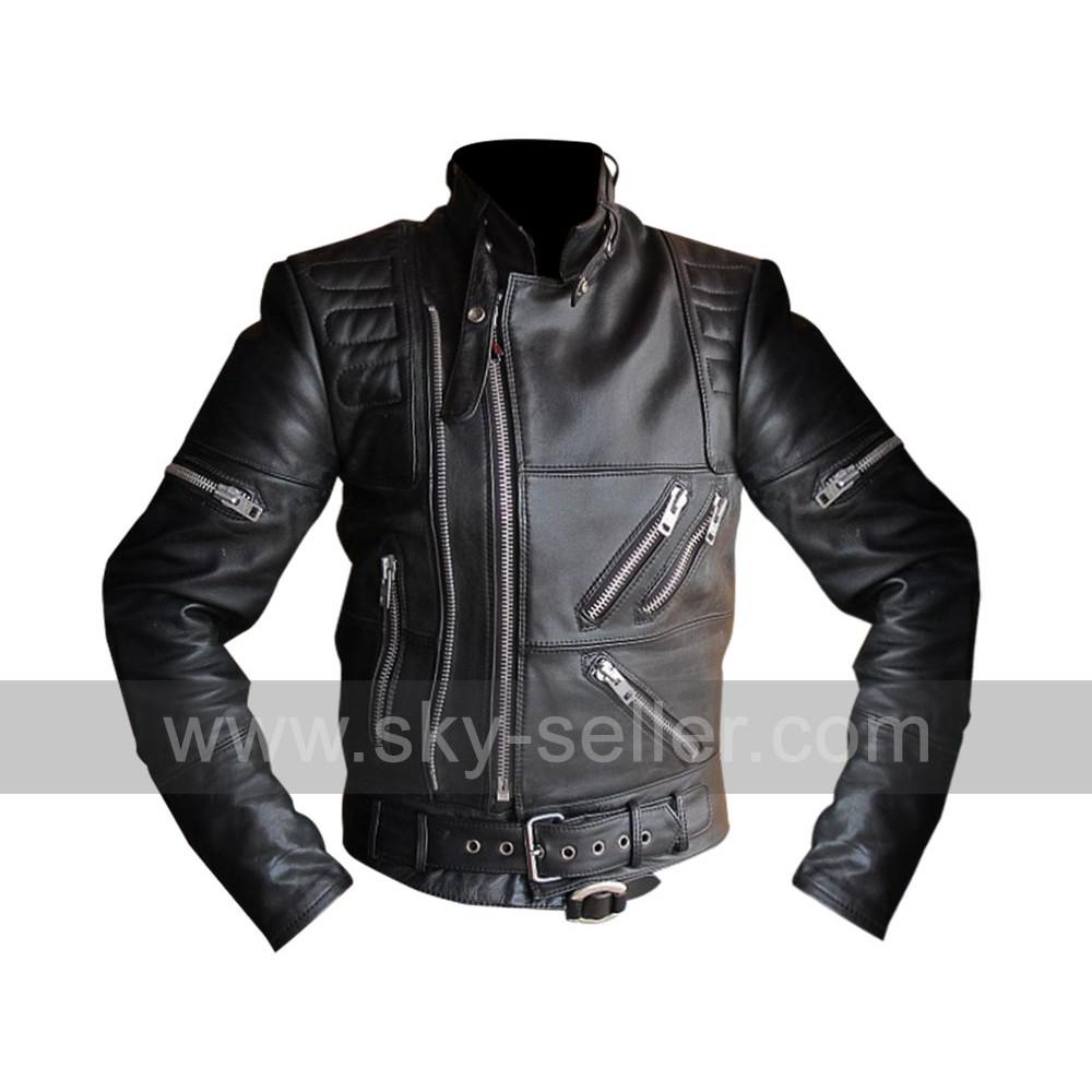 Hein Gericke Live Eagle Riding Vintage Black Leather Jacket