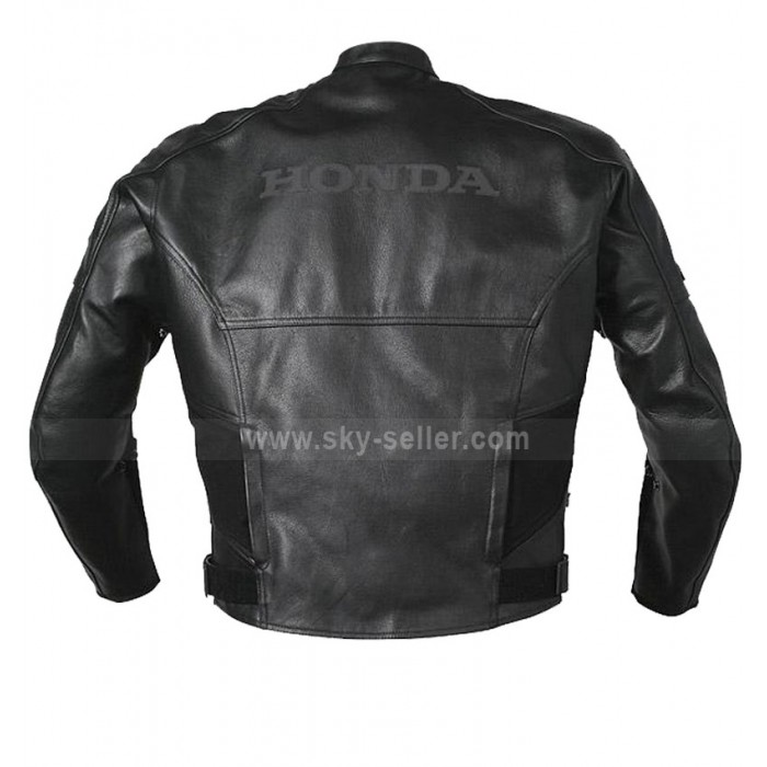Honda CBR Grey & Black Biker Leather Jacket
