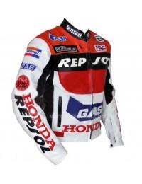 Honda Repsol Racing Motorcycle Leather Jacket