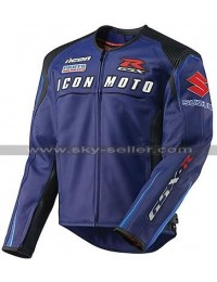 Icon Automag Suzuki Motorcycle Leather Jacket