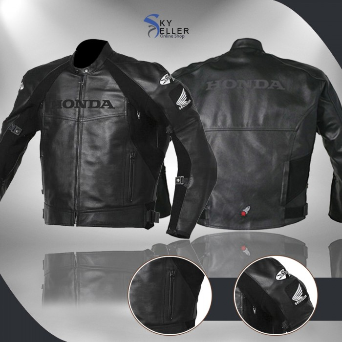 Joe Superhawk Honda Black Biker Leather Jacket