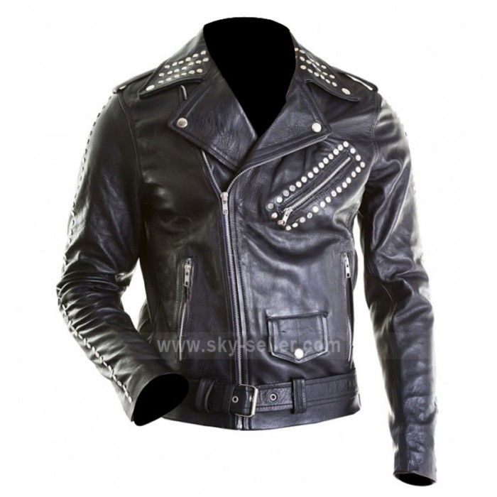Justin Bieber All Around the World Black Motorcycle Jacket