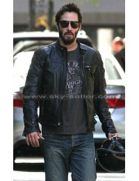 Keanu Reeves KRGT-1 Black Motorcycle Leather Jacket