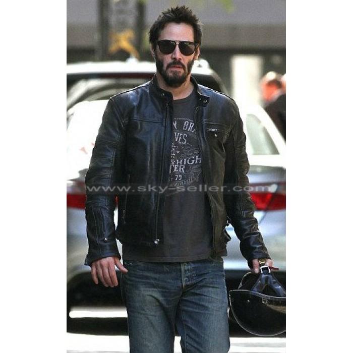 Keanu Reeves KRGT-1 Black Motorcycle Leather Jacket