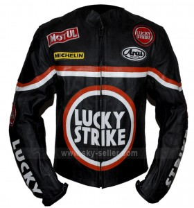Lucky Strike Black Biker Leather Jacket