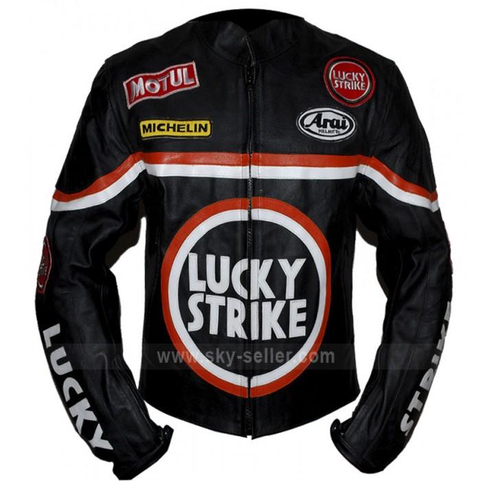Lucky Strike Black Biker Leather Jacket