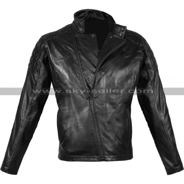 Metal Gear Solid V Snake Black Biker Jacket