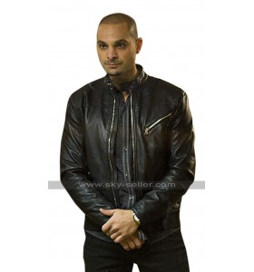 Michael Mando Better Call Saul Nacho Varga Black Biker Leather Jacket