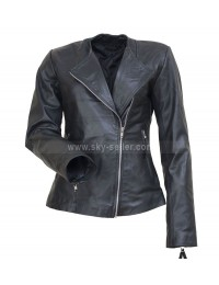 Michelle Pfeiffer Black Motorcycle Leather Jacket