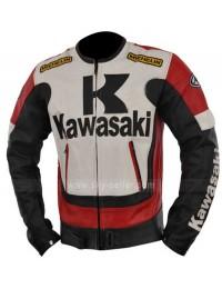 Kawasaki Ninja Red and Black Motorcycle Leather Jacket