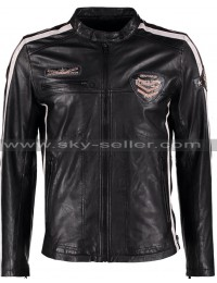 Men's Daytona Slimfit Biker Leather Jacket