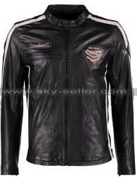 Men's Daytona Slimfit Biker Leather Jacket