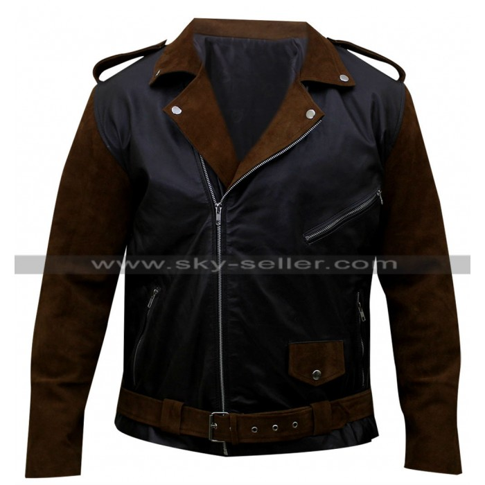 Route 66 Billy Connolly Biker Leather Jacket