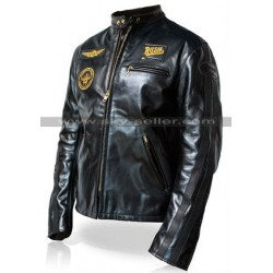 Rush R30 Black Motorcycle Leather Jacket