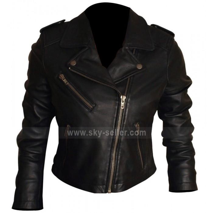 Xelement Women's Short Black Engineer Motorcycle Jacket