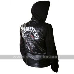 Sons of Anarchy Hoodie Highway Zip Up Motorcycle Jacket