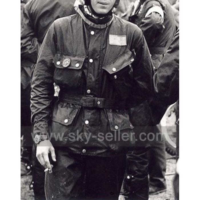 Steve McQueen Cross Country Motorcycle Race Vintage Jacket