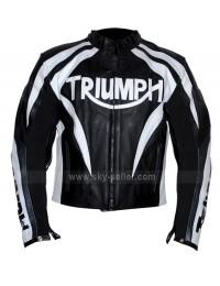 Triumph Viper Paddock Black & White Biker Jacket