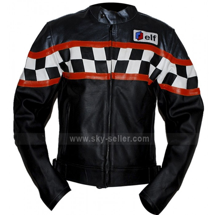Triumph Black Motorcycle Leather Jacket for Sale