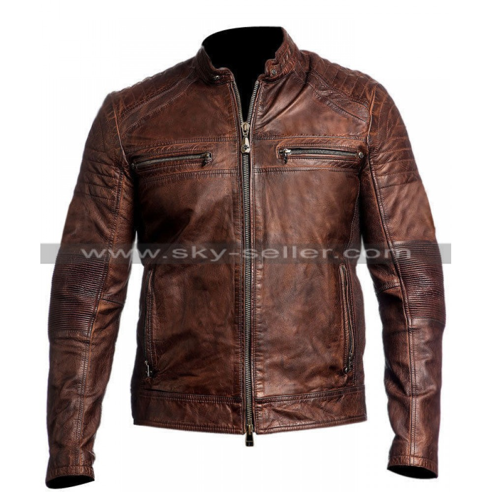 Mens Vintage Motorcycle Jacket 20