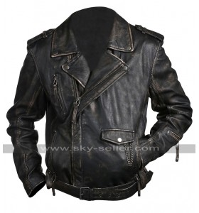 Cafe Racer Vintage Classic Brando Biker Black Leather Jacket