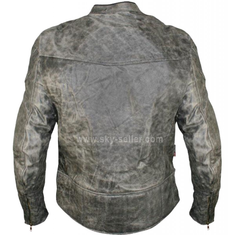cc4f68d81 Vulcan NF-8150 Distressed Biker Leather Jacket For Men's