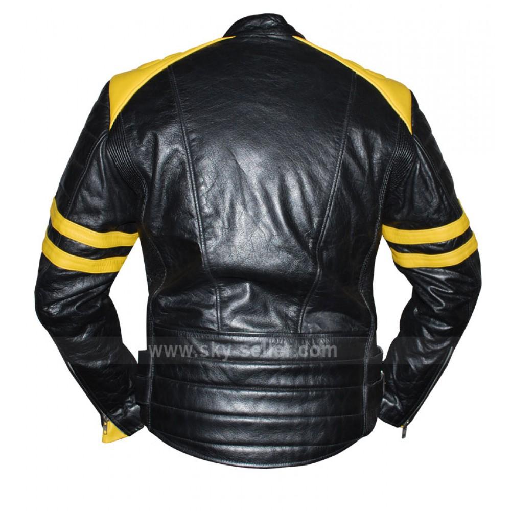 Leather jacket yellow stripe - Yellow Striped Leather Jacket Modern Fashion Photo Blog